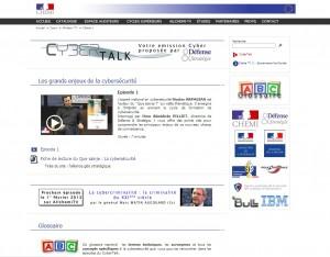 Page accueil chaîne CyberTalk